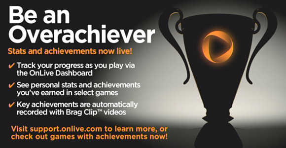 OnLive Achievements