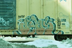 scanned photos (midwest&beyond) Tags: graffiti photos trains scannedphoto boxcars choochoo graffitiart freighttrain freights benching boxcarart