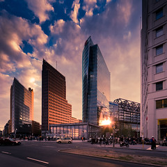 Potsdamer Platz (96dpi) Tags: sunset tower square sonnenuntergang bc platz potsdamer db highrise bahn hochhaus deutsche pwc kolhoff beisheim gettygermanyq2