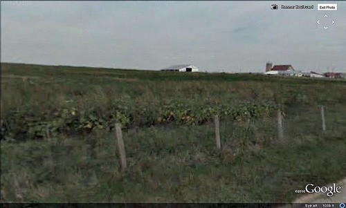 farmland across the road from EPA Region 7's new headquarters (via Google Earth)