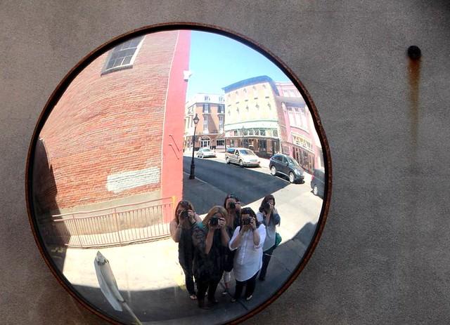 funky street mirror