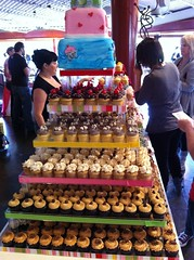 Huge cupcake tower by New York Cupcakes!