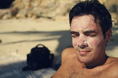 17.4.11 (obo-bobolina) Tags: ben sunscreen beach 365 project365 april 2011 thailand kohphangan haadsalad