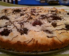 blackberry and coconut macaroon tart with chocolate drizzle (epic_stl) Tags: passover parve smittenkitchen
