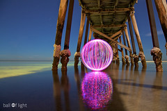 Ball of Light - Floating (biskitboy) Tags: reflection jetty wharf adelaide sa southaustralia balloflight grangejetty