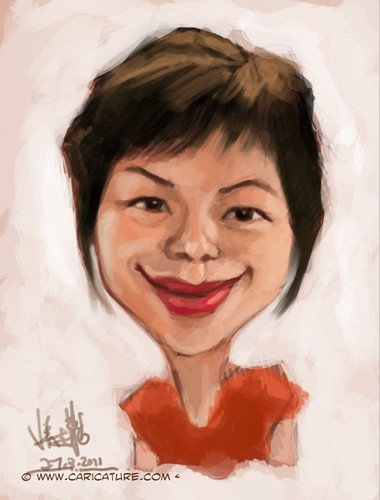 digital caricature sketch of Liu Chia Hui - 1
