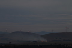 Fire at Dusk (blachswan) Tags: fire lights smoke australia victoria windtowers longhill waubra maidenhill waubrawindfarm