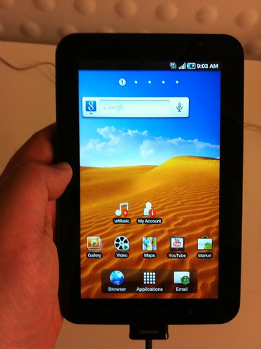 New Galaxy Tab to play with for awhile.