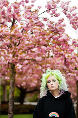 Day 144 of 365 - Year 2 (wisely-chosen) Tags: pink selfportrait me bokeh blossoms april canon50mmf18 pinkhair bluehair greenhair cameraraw yellowhair 2011 365days kwanzancherrytree lavenderhair manicpanicredpassion manicpanicultraviolet manicpanicshockingblue manicpanicelectricbanana adobephotoshopcs5extended herbalessencestouslemesoftlyconditioner proclaimarganoilhairoiltreatment itsa10miraclehairmask