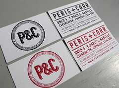 Screen Printed Business Card (Peris and Corr) Tags: cards business screenprinted