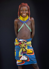 Mwila tribe kid - Angola (Eric Lafforgue) Tags: africa people tourism girl childhood vertical dreadlocks female youth standing person one beads kid child tribal innocence tribe humanbeing plaits oneperson huila colorphoto angola tourismo southernafrica mwela lookingatcamera waistup ethnicgroup traditionalhairstyle  mumuila   chibia mumuhuila mwila      southangola mumuhuilatribe mwilatribe nontombi ango3004 oncula