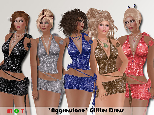 Aggressione Glitter dress fatpack