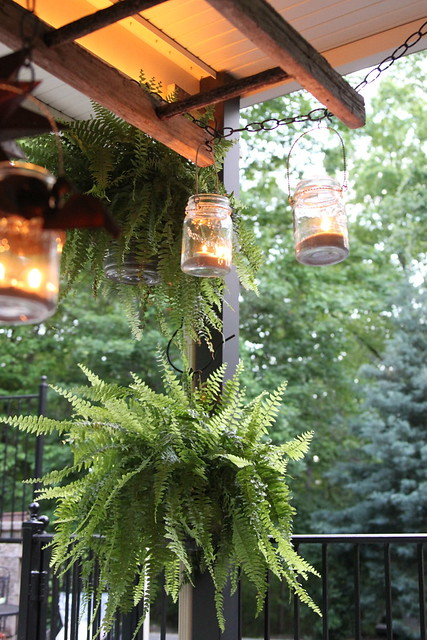 pottery barn ladder lantern DIY