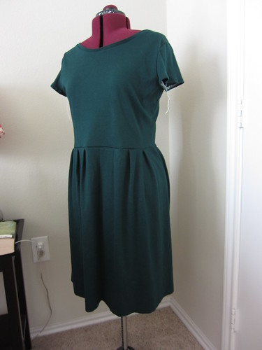 Green Knit Dress In Progress
