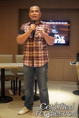 Marco of Kenny Rogers introducing us to the new products of Kenny Rogers - CertifiedFoodies.com