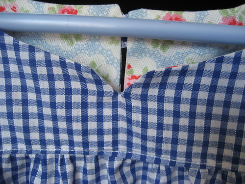 Contrasting facings from Cath Kidston fabric