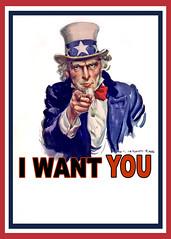 Uncle Sam I Want You - Poster (DonkeyHotey) Tags: art illustration photomanipulation photoshop poster photo manipulation worldwarii flagg commentary unclesam politicalart iwantyou politicalcommentary jamesmontgomeryflagg unclesamwantsyou iwantyouforusarmy armyposter donkeyhotey