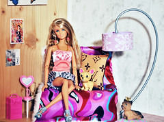 Lucia Loves Louis Vuitton (miyalumix) Tags: fashion louis diy ooak barbie skipper swap rement cushion mattel vuitton diorama fever fashionistas pivotal