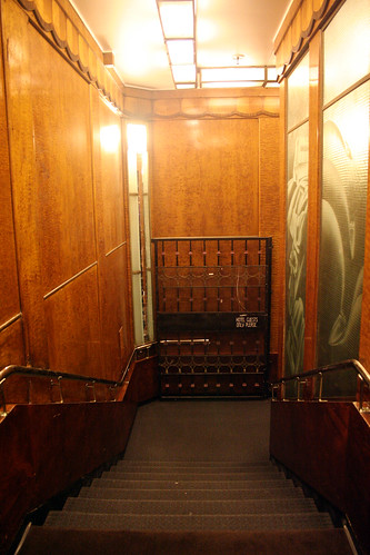 Queen Mary - Staircase From Aft Elevators