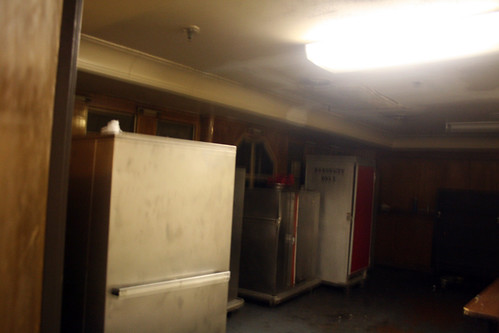 Queen Mary - Covert Shot of Some of What Remains of Library - Now Service Area for Banquet Room
