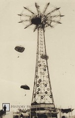 "Steeplechase Parachute Jump at 1939 World's Fair • <a style=""font-size:0.8em;"" href=""http://www.flickr.com/photos/56515162@N02/5675284351/"" target=""_blank"">View on Flickr</a>"