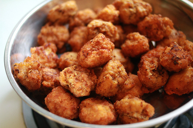 Bakso Goreng Kuah - Fried Chicken & Shrimp Balls in Chicken Broth