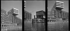 amsterdam architecture seen from the water (douweplukkel) Tags: blackandwhite bw film water amsterdam architecture analog boat sailing canals analogue ilforddelta400 olympuspenee3 ij hetij olympuspenee mimoa ee3 ilforddelta amalocoam74 amaloco stadsarchiefamsterdam amsterdamstadsarchief theij