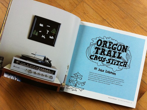 Oregon Trail Cross-Stitch by John Lohman