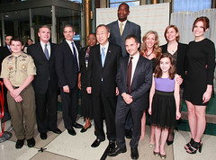 World Malaria Day 2011 (NothingButNets) Tags: africa newyorkcity un unitednations nets nba champions mandymoore exxonmobil childrenshealth rollbackmalaria dikembemutumbo nothingbutnets unfoundation worldmalariaday championstoendmalaria
