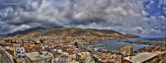 1st Panorama (Vicky Tsavdaridou) Tags: city travel blue sea vacation sky panorama cloud seascape green nature water clouds photoshop canon landscape geotagged photography countryside photo interesting europe village hellas places explore greece hdr topaz waterscape kalymnos hellenic photomatix efs1022   islanand