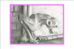 Paris Gargoyles - Lusee (Gillian Olson - PS Whimsy) Tags: sculpture canada paris art artwork drawings historic notredame gargoyle charcoal gargoyles notredamecathedral conte contedrawings pswhimsy gillianolson