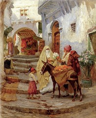 Frederick_Arthur_Bridgman-The_Orange_Seller (Carlos Cesar Alvarez) Tags: arte pintura orientalismo