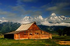 Breaking Overcast at Mormon Row in Grand Teton National Park (D200-PAUL) Tags: nationalpark tetons grandteton grandtetonnationalpark mormonrow aboveandbeyondlevel4 aboveandbeyondlevel1 aboveandbeyondlevel2 aboveandbeyondlevel3