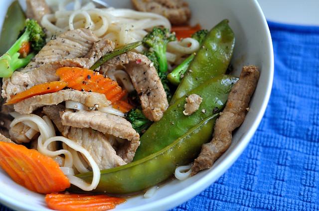 Spring Veggie Stir Fried Soba Noodles