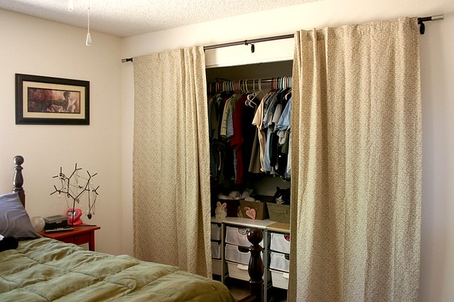 New Closet Curtains, Open