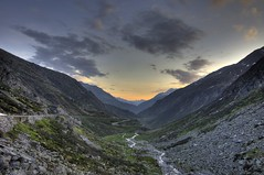 Gotthard Pass Sunrise (nils.rohwer) Tags: world sunrise dawn top pass windy roads hdr gotthard bends