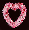 Pink Sweetheart Button Wreath (Sharon at STYROCrafts) Tags: buttons wreath buttonwreath heartwreath valentinesdaywreath