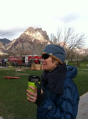Red Rock Rendevous - Nothing like hot Joe pre bike race!  Thanks for the pic Loran