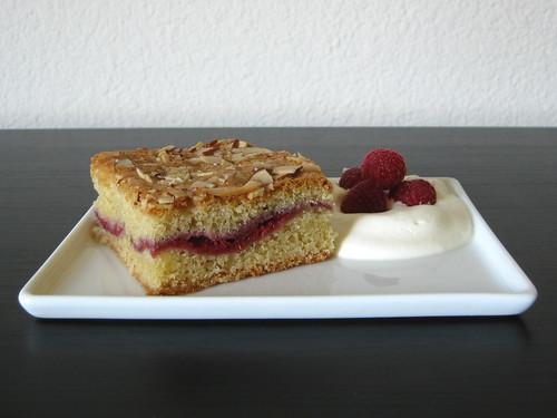 almond-raspberry tea cake
