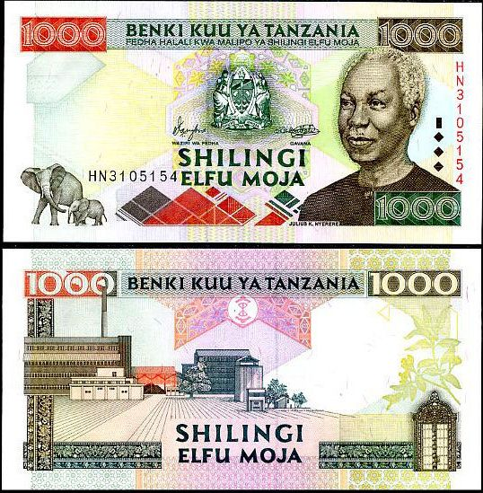 1000 Shilingi Tanzánia 2000, P34