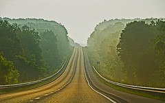 Morning Mist On Route 70 (Cheryl Atkins) Tags: road morning trees mist fog highway maryland route70