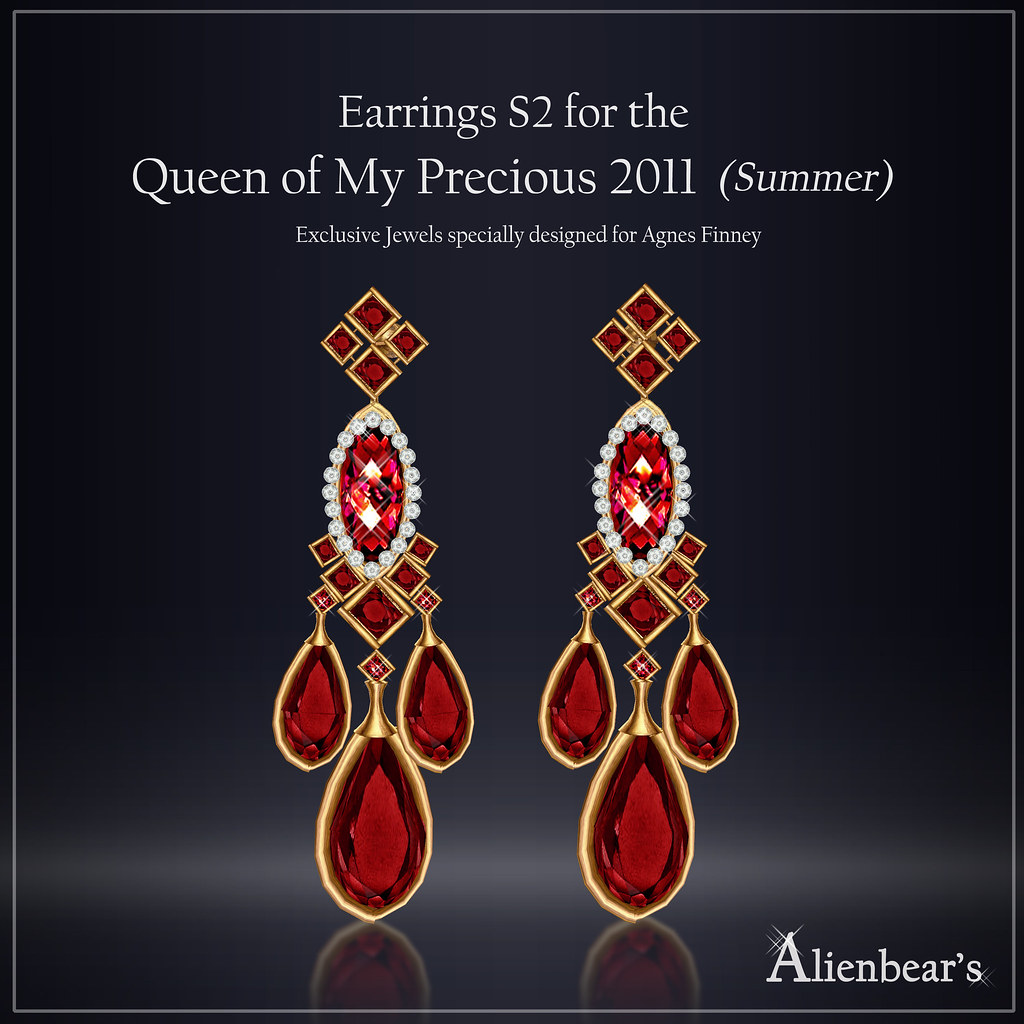 Earrings S2 for Queen of My Precious 2011 Summer