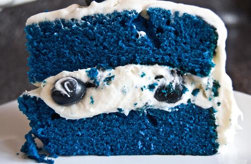 Blue Velvet Cake Recipe With Blueberries