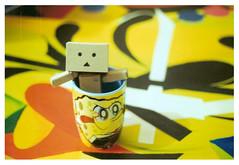 Danbo and Bob (Gaby Ordaz) Tags: yellow bob esponja sponge danbo danboard