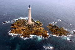 An aerial view of Scotland's tallest lighthouse - Skerryvore (iancowe) Tags: ocean lighthouse tower rock scotland pillar scottish aerial atlantic helicopter stevenson tiree hebrides northernlighthouseboard nlb skerryvore wbnawgbsct