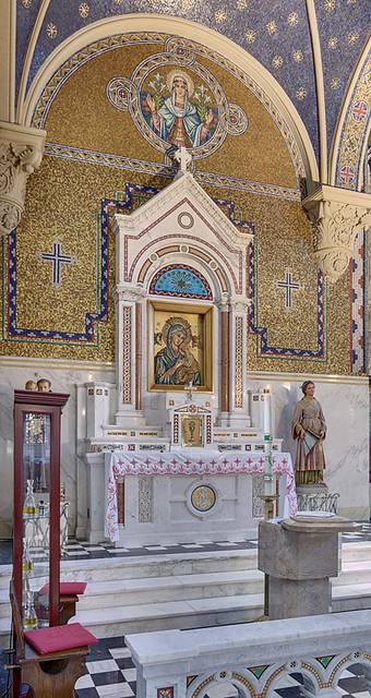 Saint Cecilia Roman Catholic Church, in Saint Louis, Missouri, USA - altar of Our Mother of Perpetual Help