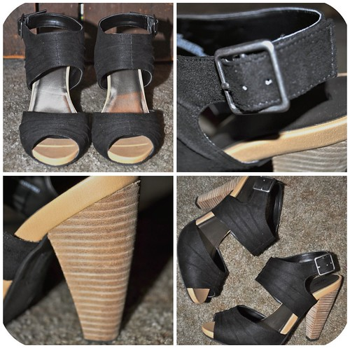 Black Double Wide Strap Heel