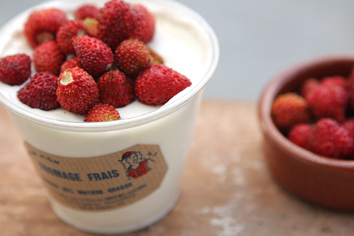 fraises n fromage blanc