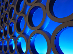 Casino Circles (Mondmann) Tags: blue lasvegas circles nevada casino redrock decor redrockresort mondmann canonpowershots95