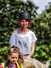 Caz Horse Riding (PhilnCaz) Tags: hdr processed edited tonemapped highdynamicrange niksoftware colorefex nik caz efex horseriding horse rider wirral learning lessons barnston barnstonliveryandridingcentre barnstonridingcentre